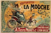 Vintage French advertisment poster - Voiturette La Mouche